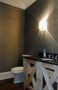 Powder room wallpaper. | bathrooms | Pinterest