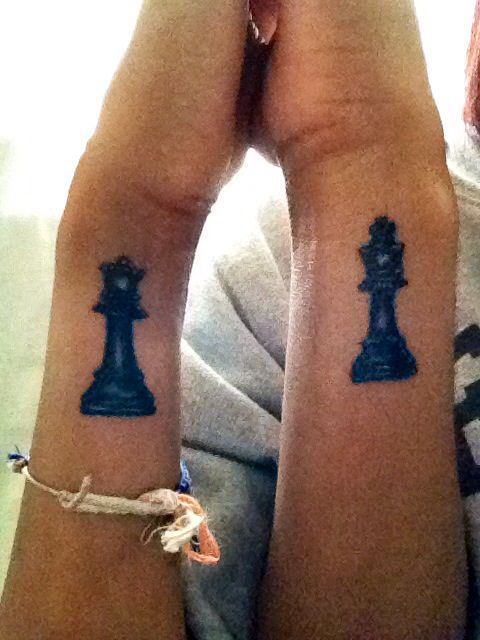 20 Couples Chess Piece Tattoos Ideas And Designs