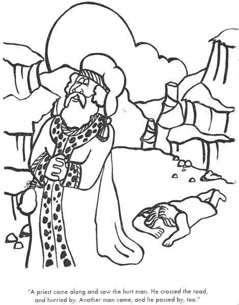 Good Samaritan Story Coloring Page Sketch Coloring Page