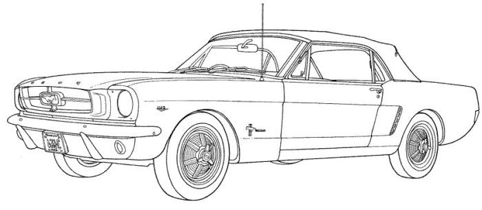 69 Mustang Fastback Coloring Pages