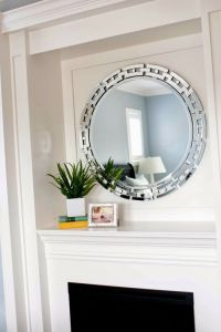 mirror over fireplace :) | Mirrors | Pinterest