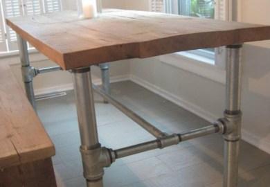 Diy Industrial Dining Room Table