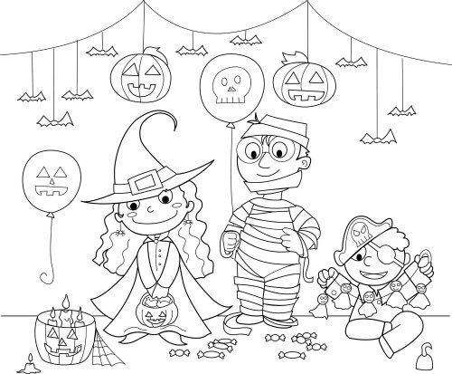 20+ Halloween Movie Coloring Pages Ideas and Designs