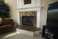 Granite fireplace surround and hearth | Fireplaces | Pinterest