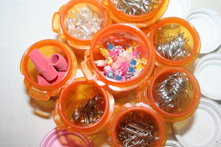 Crafty ways to re-use empty medicine bottles - I like the idea of putting birthday candles in them!