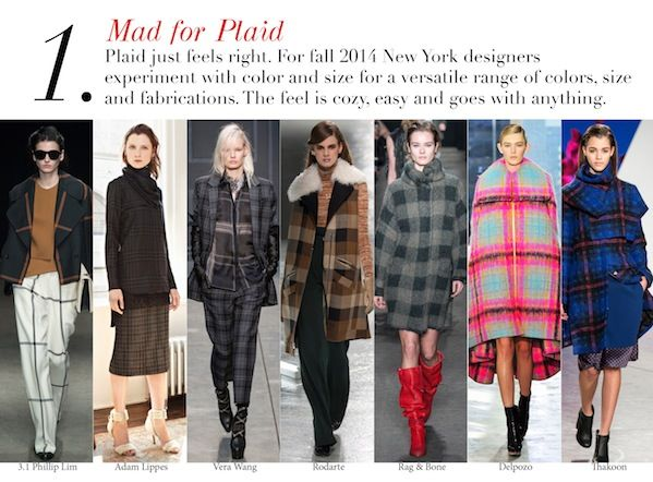 New York Fall 2014 Trend Report: Mad for Plaid | Edited by Roopal Patel and Sarah Slutsky