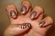 tiger stripe nail design art