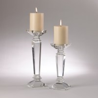 crystal candle holders | Pillar Candle Holders | Pinterest