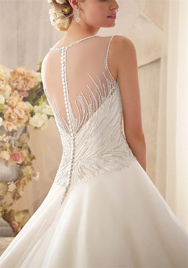 """Karen"" by Mori Lee (style no: 2602), Beautiful beaded bodice and full organza skirt, GORGEOUS!!"