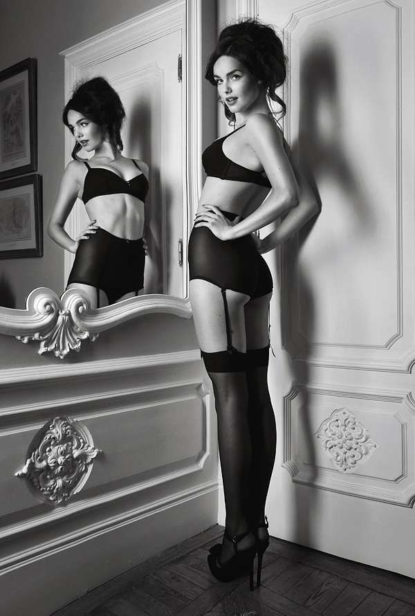 Beautiful black and white. Boudoir style.