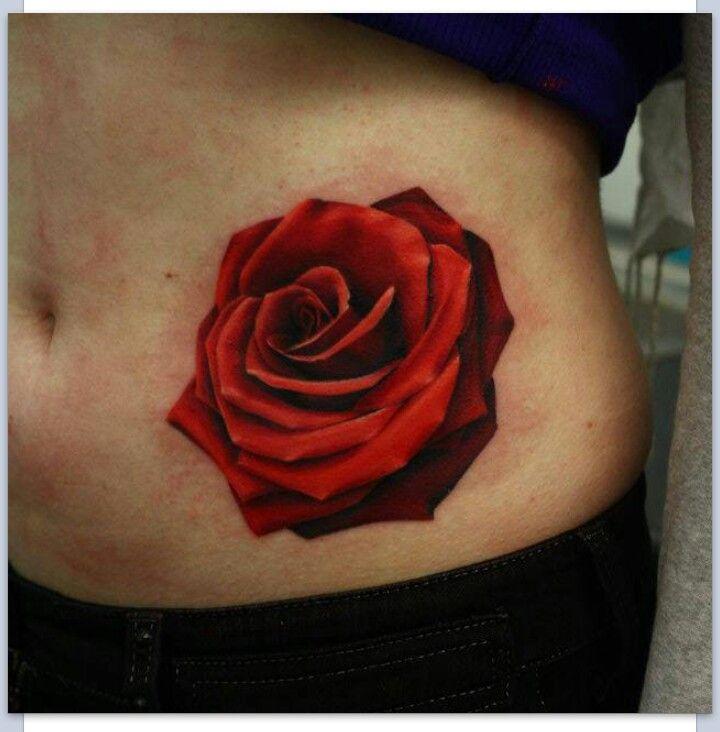 Realistic Rose Tattoo  Tattoo Ideas Pinterest