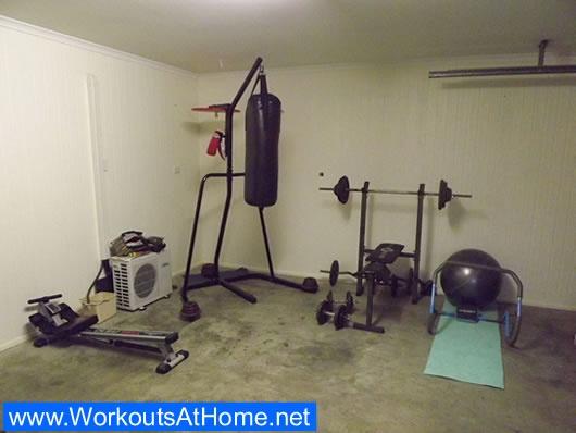 basic home gym setup health and fitness pinterest