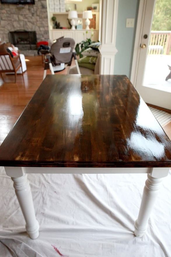 DIY refinish the kitchen table  For the Home  Pinterest