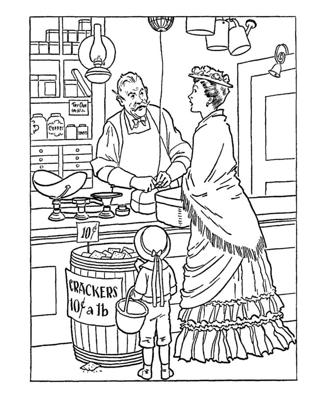 Early American Trades Coloring Page Cool Educational