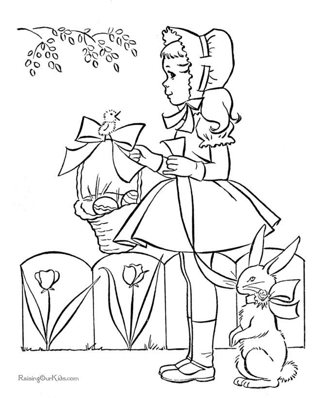 easter coloring page for kid  great vintage coloring