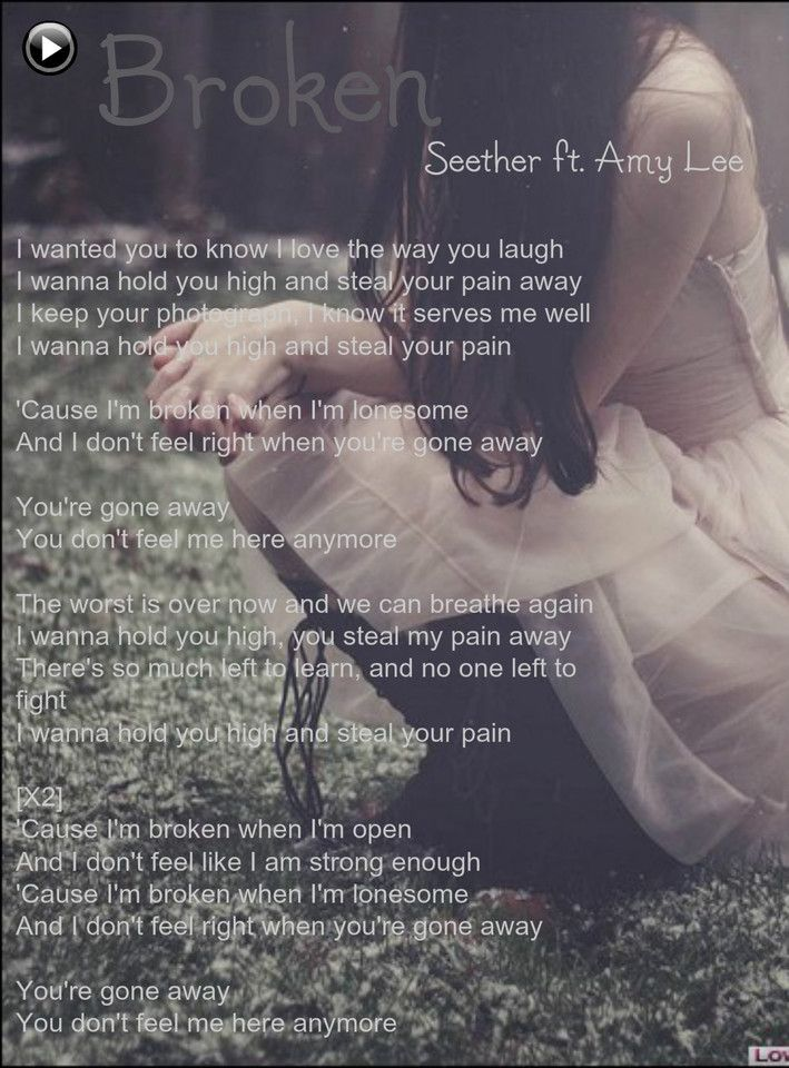 Seether feat Amy Lee - Broken