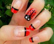 ladybug nail design nailssss
