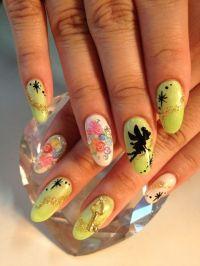 Tinkerbell nails | Disney | Pinterest