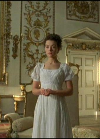 Elizabeth Gaskells's Wives and Daughters by BBC (1999) with Justine Waddell as Molly meeting the new mommy in lovely white
