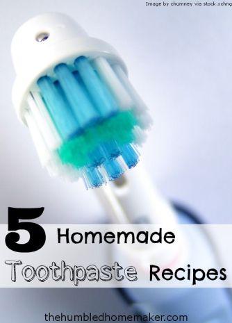 5 Homemade Toothpaste Recipes - TheHumbledHomemaker.com