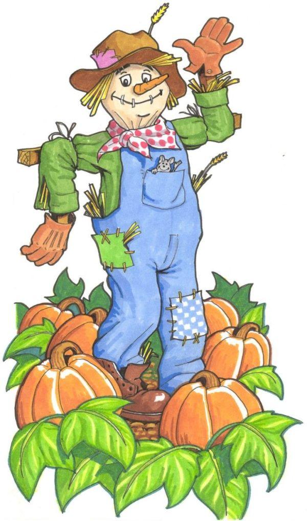 cute scarecrow clipart