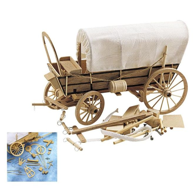 Covered wagon wooden model kit crafts pinterest