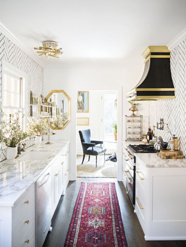 classic galley kitchen. See more images from secrets to redecorating a grown-up nashville home on domino.com