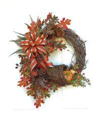 Cornucopia Fall Wreath for Door, Fall Decor, Autumn Wreath ...