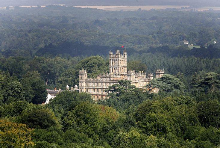 Downton Abbey, set in Highclere Castle