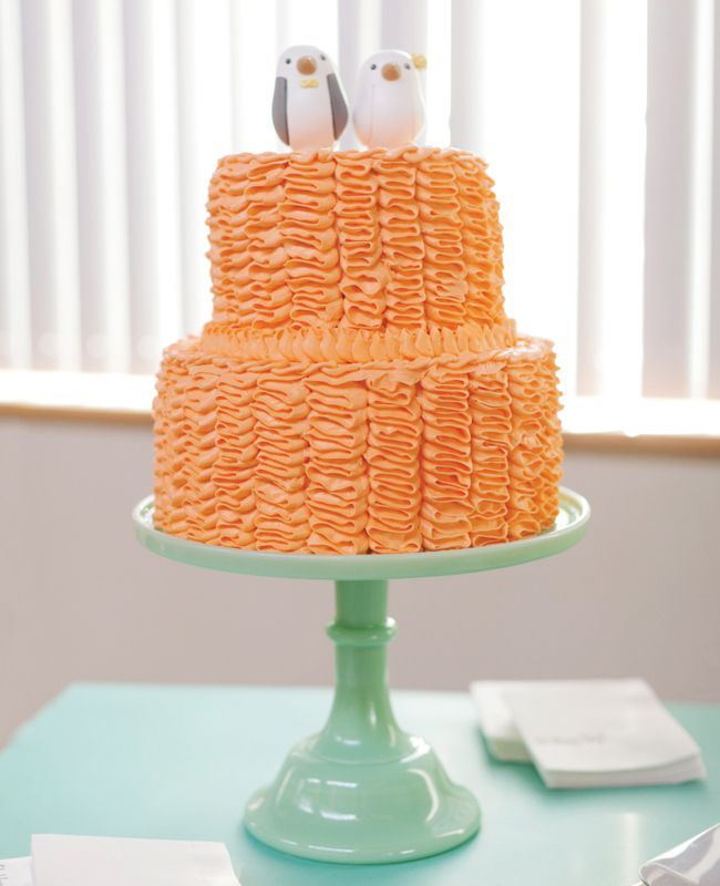 Orange #wedding #cake // Photo: L Photographie  // Feature: The Knot