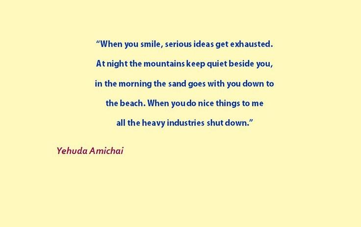 Yehuda Amichai Love Poems