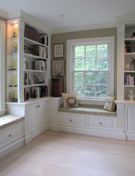 painted home office built ins Painted Built-Ins | Home: Great Room & Library Ideas | Pinterest