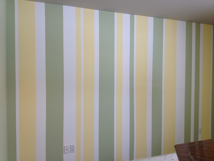 One wall vertical stripes?