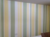 One wall vertical stripes? | Nursery ideas | Pinterest