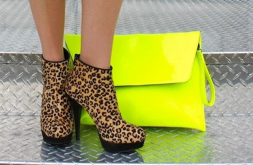 neon + leopard