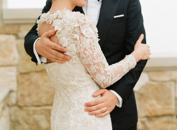 Long Sleeved Lace Gown. Photo by Elizabeth Messina via Mindy Weiss.