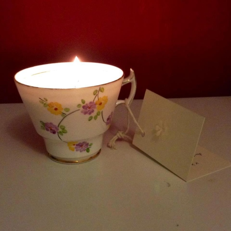 Teacup candle! Perfect for lighting at your next dinner party or for a cosy night in! €12.00