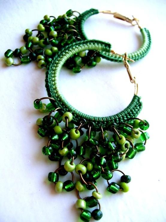 Crochet Hoop Earrings.