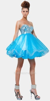 Short Non Poofy Prom Dresses - Boutique Prom Dresses
