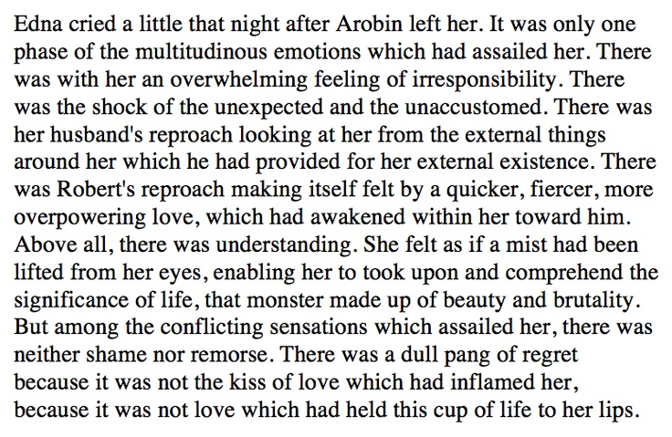 The Awakening by Kate Chopin chapter XXVIII