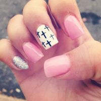 Cross Nails . Acrylic Designs . Pink | Gorgeous | Pinterest