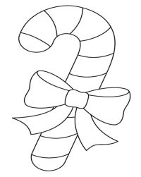 √ Big Candy Cane Coloring Pages | Free Printable Candy Cane ...