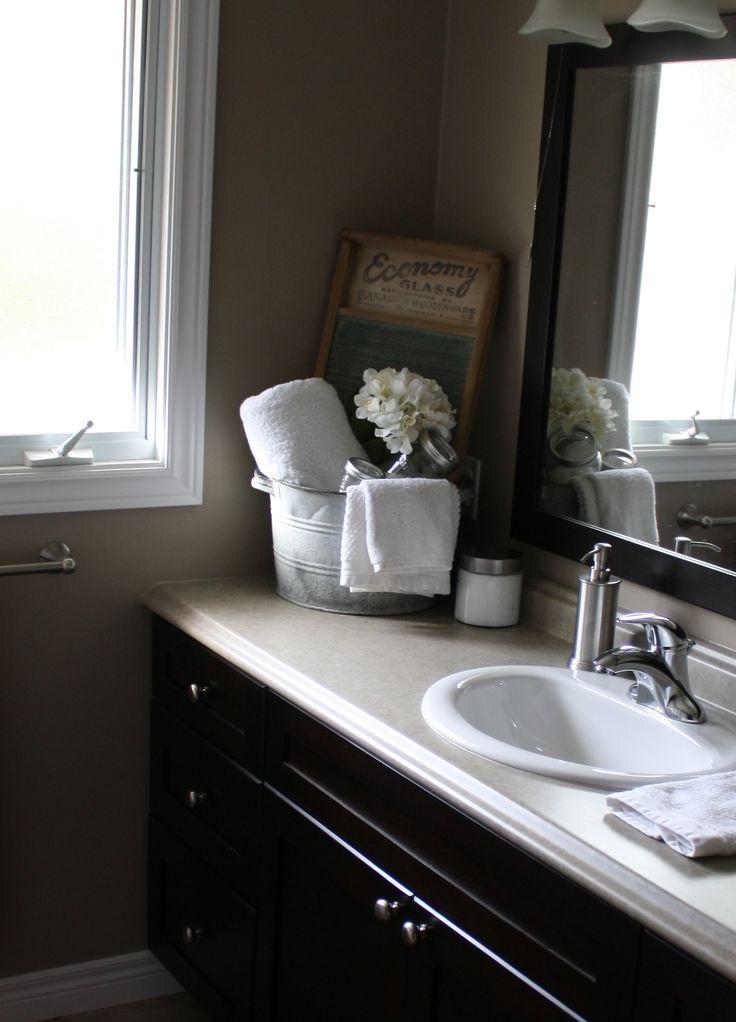 Country bathroom decor  My House  Pinterest