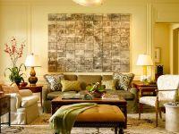 Living room: Earth tones