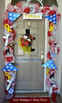 Memorial Day Door Decor | Patriotic Holidays | Pinterest