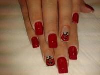 Elmo #nail #nailart