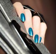 dark teal holiday nails style