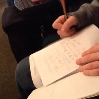 Image result for taking notes in church