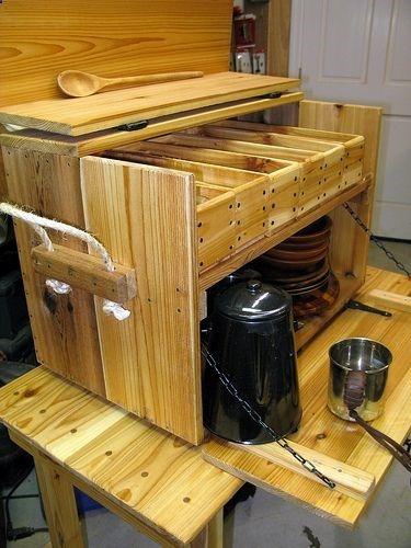 Cool camp kitchen box  Homemade crafts  Pinterest