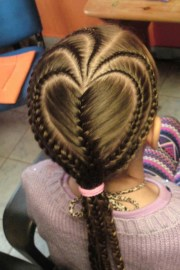 heart shape french braids hairstyles